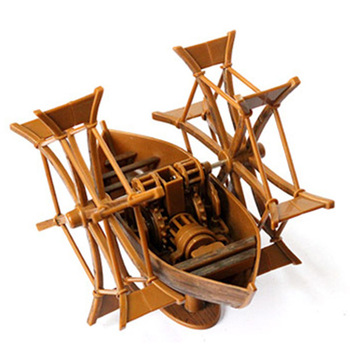 Schip Modellen Kits Schaal Model Boot Model 3D Diy kind speelgoed Trein Hobby Model Boot 3d Laser Cut Da Vinci manuscript