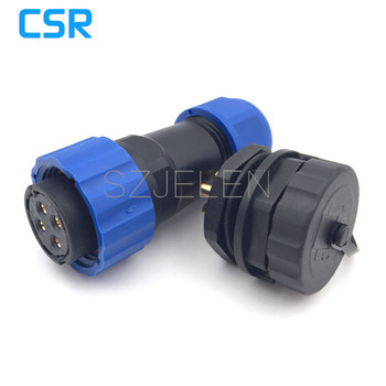 SD20TP-ZM, Nylon Vergadering Schroefbevestiging waterdichte connector 4 pin plug en socket, auto elektrische waterdicht 4 pin connector