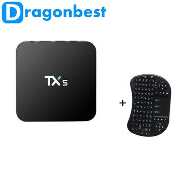 Set Top Box TX5 TV BOX Amlogic S905X Android 6.0 2G 8G HD 4 K Volledig 16.1 Quad core Mediaspeler Android TV DOOS