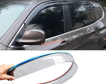 Voor BMW X3 F25 2011 2012 2013 Chrome Styling Venster Vizier Vent Shade Regen Zon Guard Cover Trim