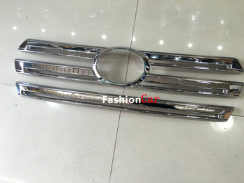 Voor center grille grill trim 2 stks Voor Toyota Land Cruiser LC200 2016 auto styling